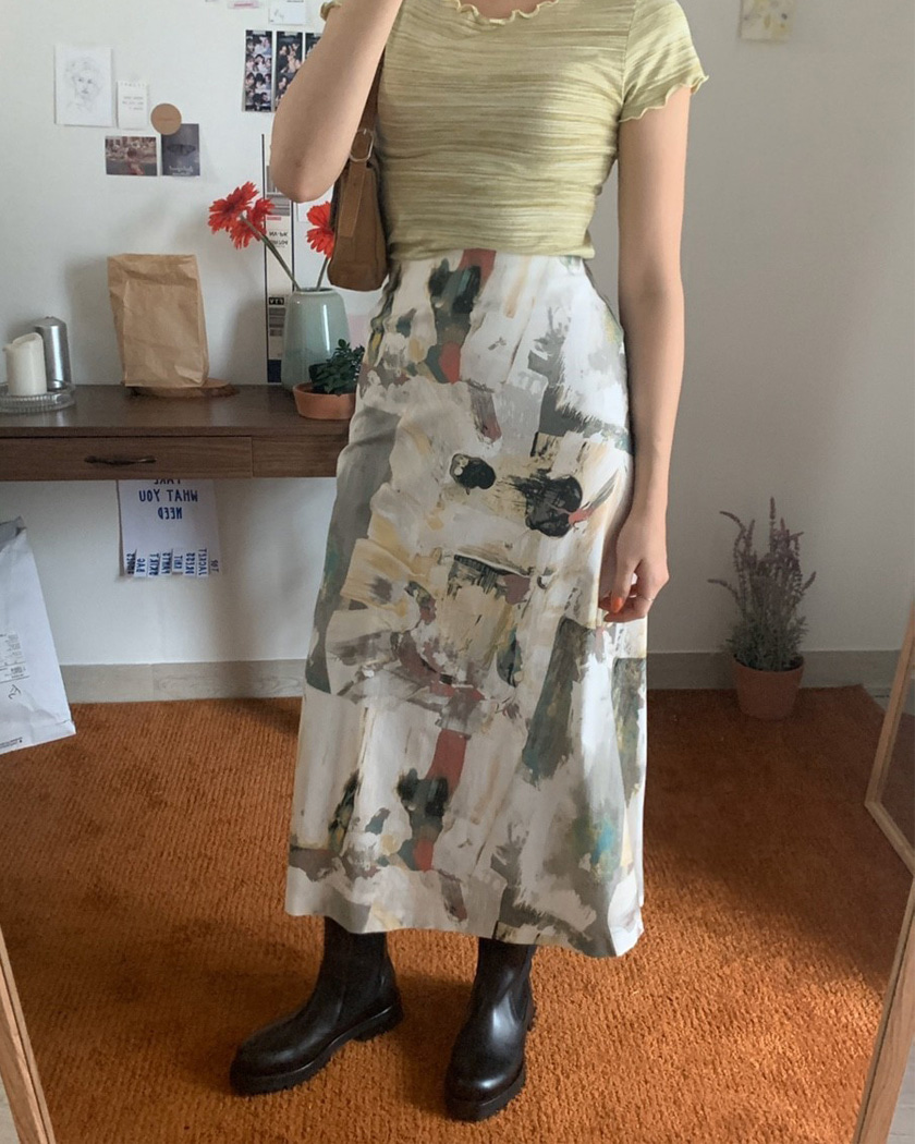 Watercolor Skirt (그레이만 재진행)