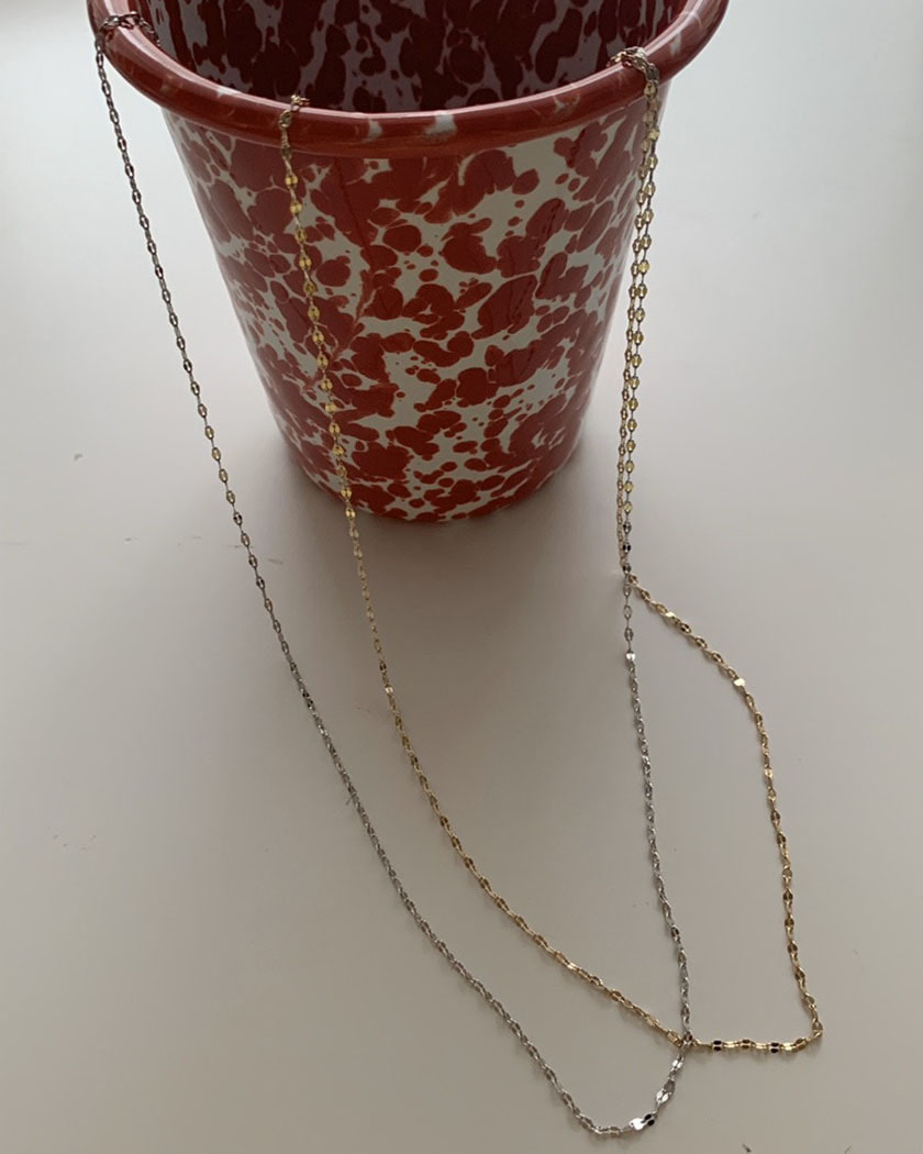 Long Small Chain Necklace