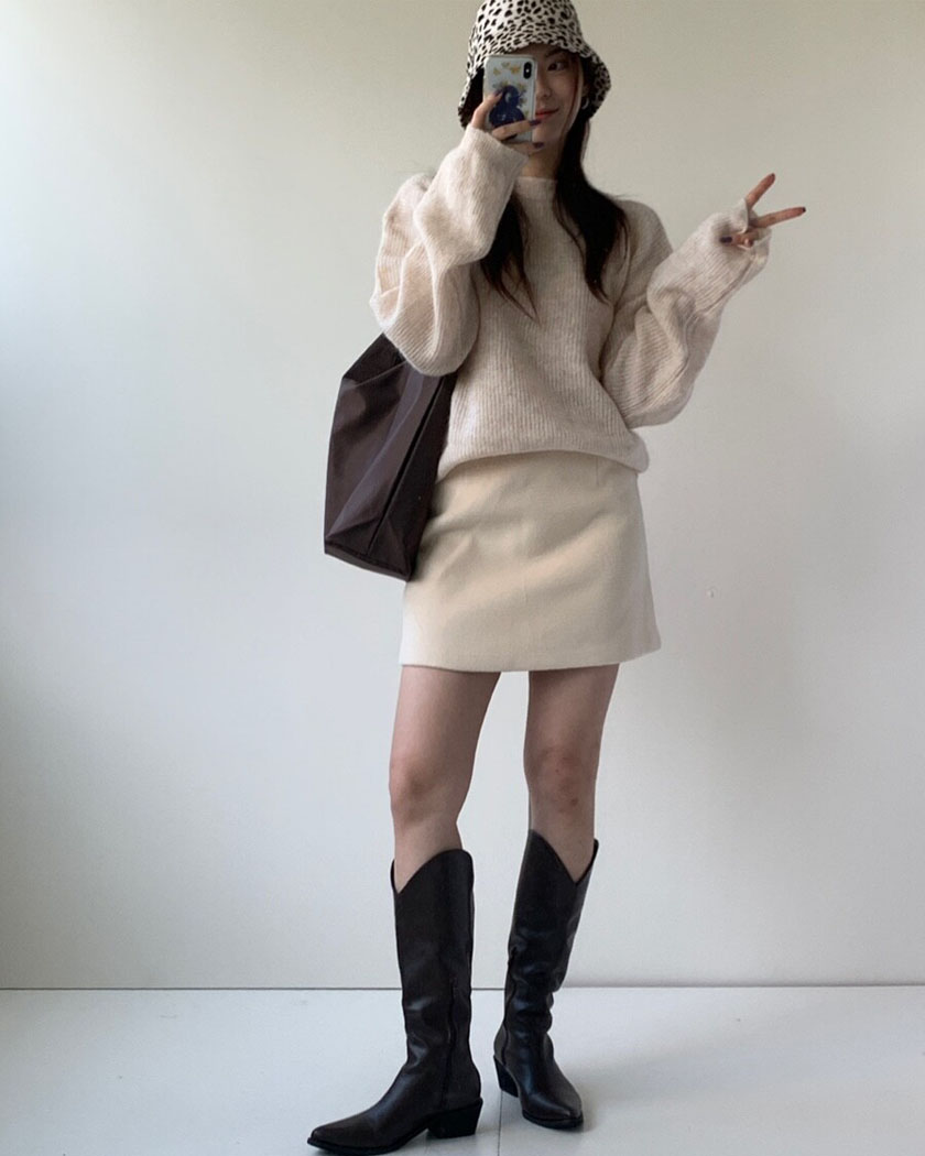 (20%SALE) Soap Wool Skirt