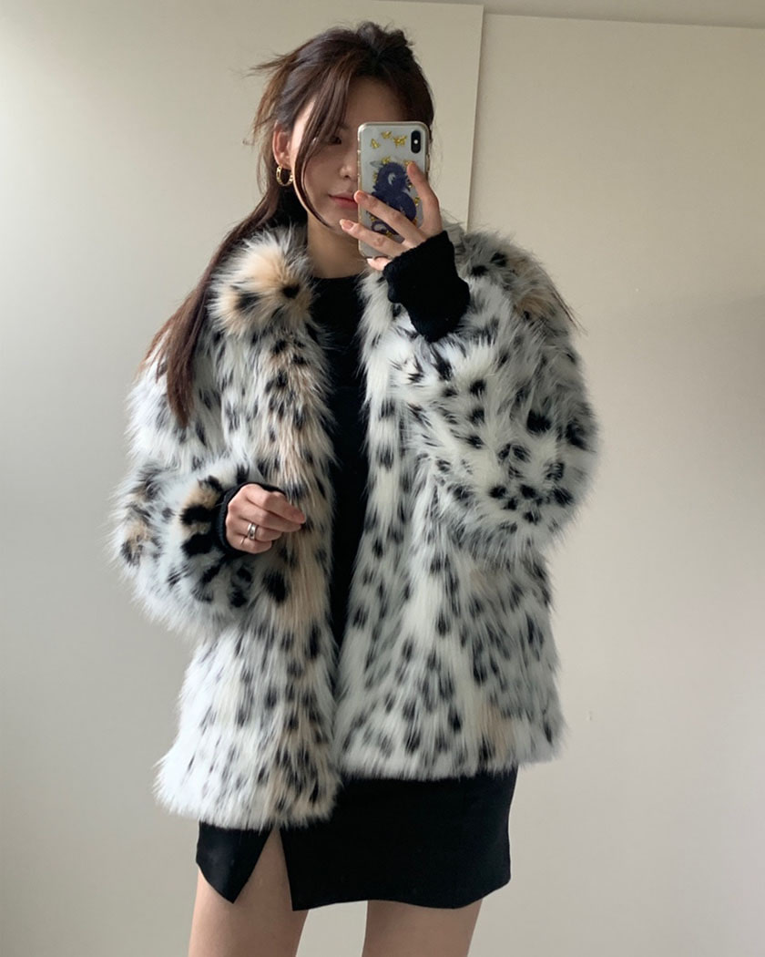 White Leopart Fake Fur