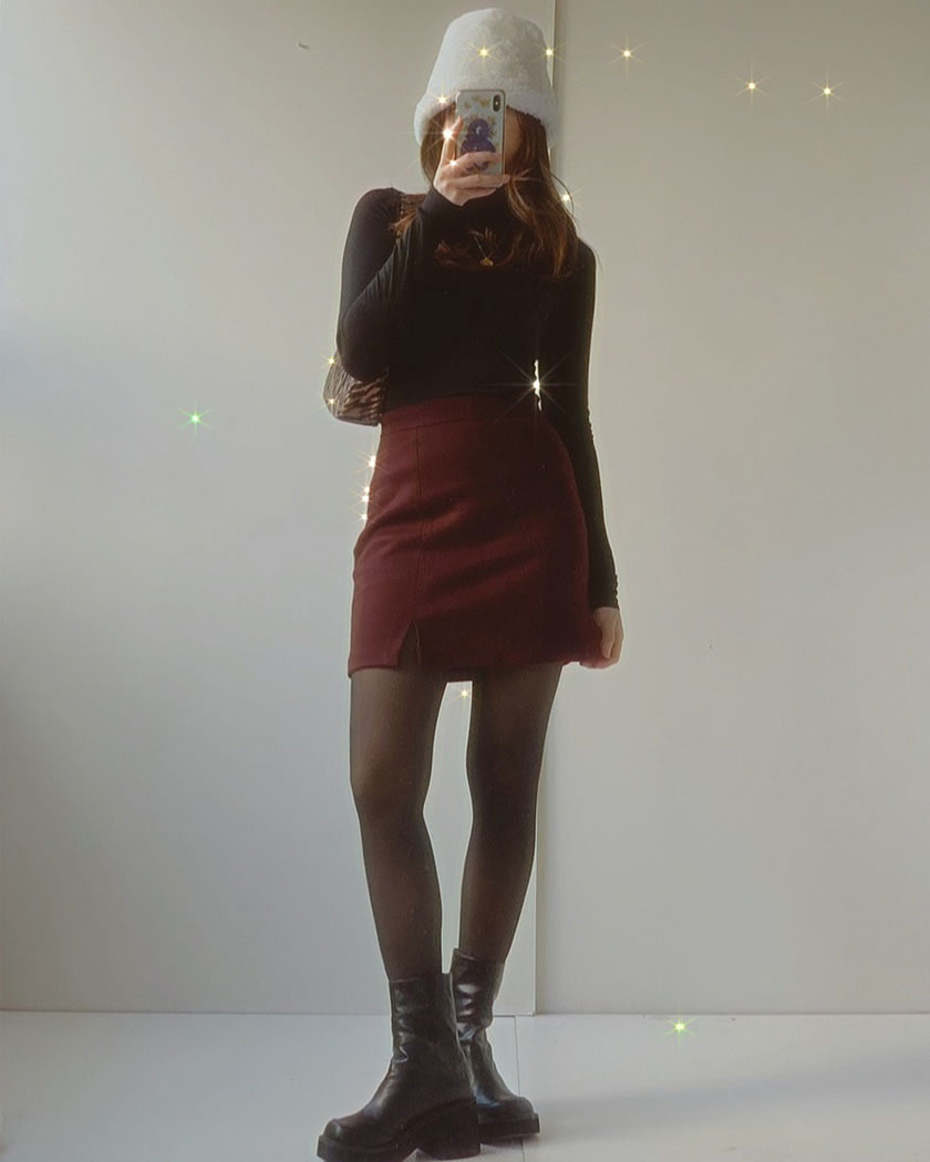 (30%SALE) Collection 25 - Benny Wool Skirt