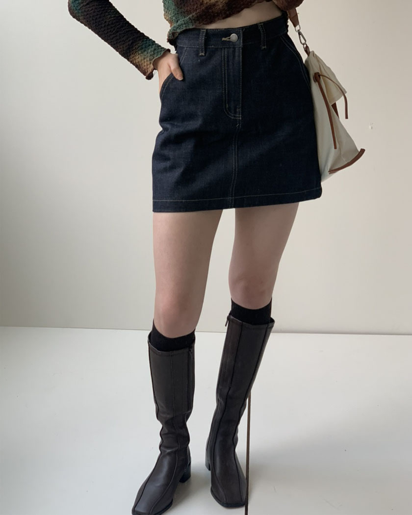 Saint Denim Mini Skirt