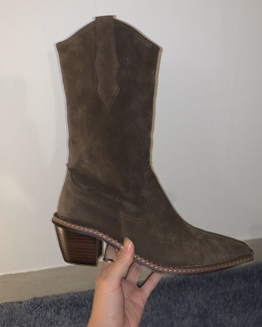Suede Middle Boots (Reorder)