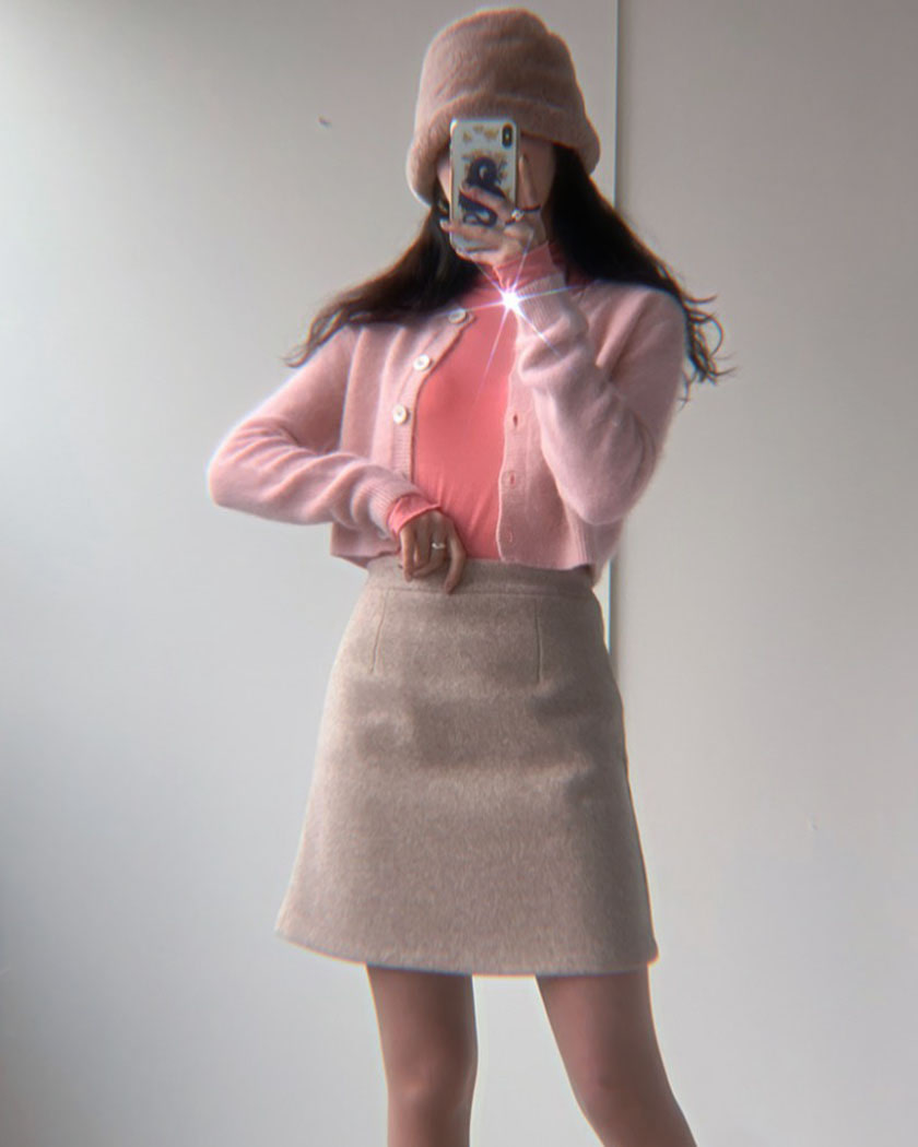 (30%SALE) Maybe Wool Skirt