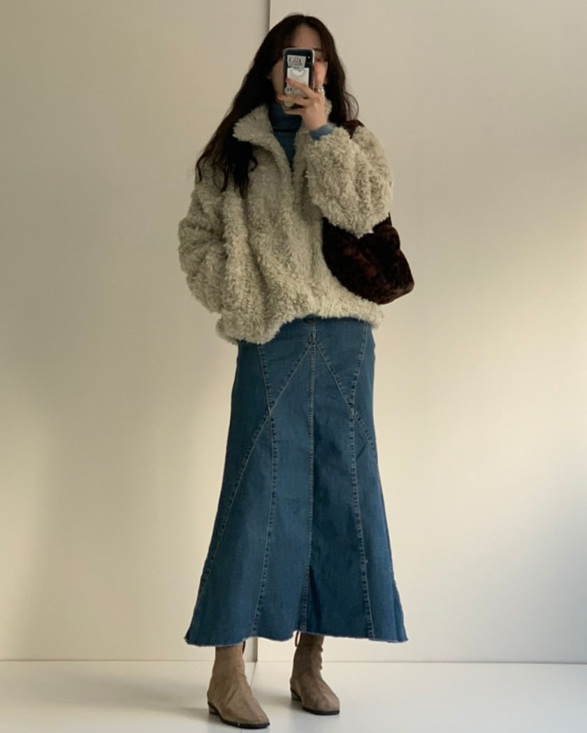 Kinto Denim Long Skirt