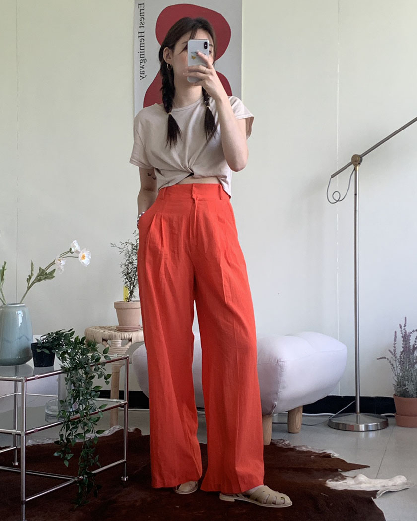 Collection 13- Linen See-through Pants(당일발송가능)