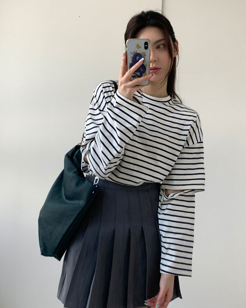 Striped Open T