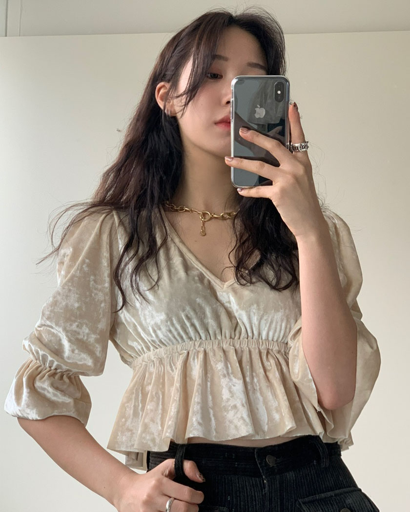 (10%SALE) Collection 24 - Angel Velvet Blouse