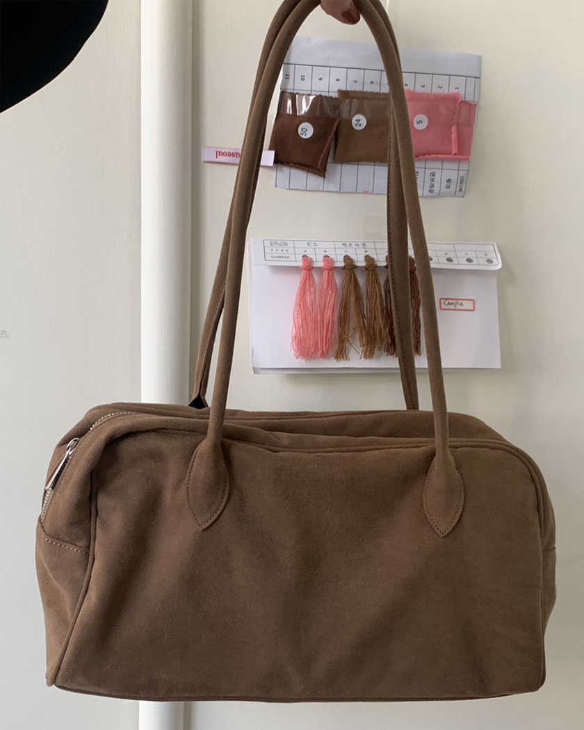 (20%SALE) Suede Boston Bag