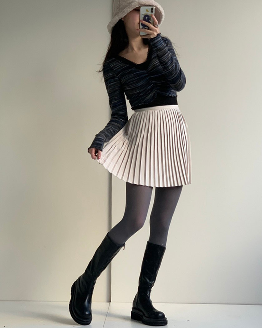 Like Pleats Skirt